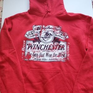 Winchester Vintage Sz. M Red Pullover Hoodie